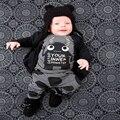 Recién nacido bebé de la ropa del bebé Muchacho de la Historieta de La Novedad Chica Monstruo Camiseta Tops + Pants Juegos de ropa para niños de invierno chándal