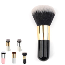1pcs Round/Oblique Head Powder Makeup Cosmetics mini Short Brushes BB Cream Tools