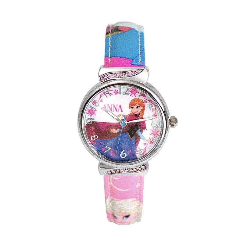 Disney brand children s watches Frozen Girl quartz 30m waterproof Cartoon Anime kids watches Pu leather