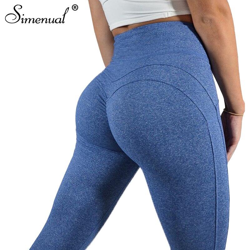 Mallas de corazón de cintura alta con pliegues simenuales para fitness 2018 bodybuilding push up sexy legging Pantalones jeggings ropa deportiva