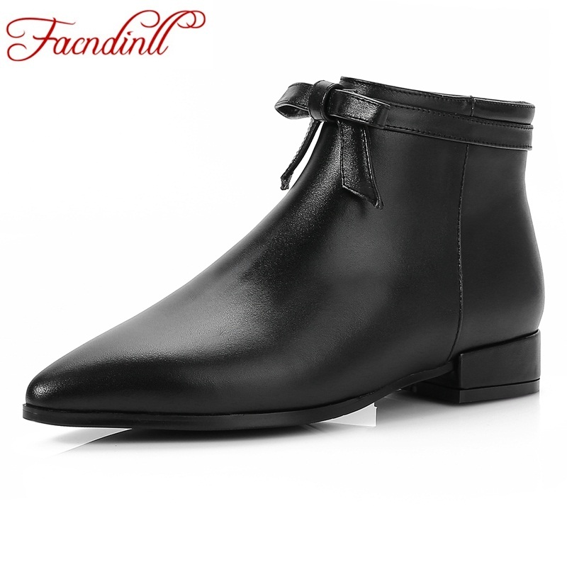 FACNDINLL 2017 women fashion vintage bow-tie genuine leather shoes female spring autumn platform ankle boots woman casual boots front lace up casual ankle boots autumn vintage brown new booties flat genuine leather suede shoes round toe fall female fashion