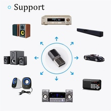 цена на Audio Receptor USB 3.5mm AUX for Smartphone ipad Portable Bluetooth Receiver Adapter Stereo Music Wireless Speakers