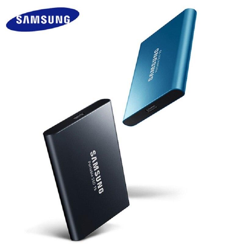 Samsung T5 portable SSD 250 go 500 go USB3.1 disques SSD externes 1 to 2 to USB 3.1 Gen2 et rétrocompatible pour PC MAC