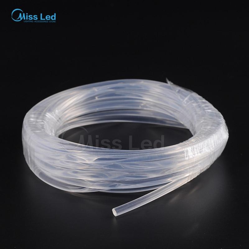 Câble optique de fibre de lueur latérale en gros de 100m / ROLL 6MM PMMA pour l'éclairage de décoration de voiture