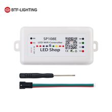 SP108E LED WIFI Sihir Controller WS2812B WS2813 Dll LED Strip Lampu Modul Aplikasi Pintar Kontrol Nirkabel IOS 10/Android 4.4 DC5-24V(China)