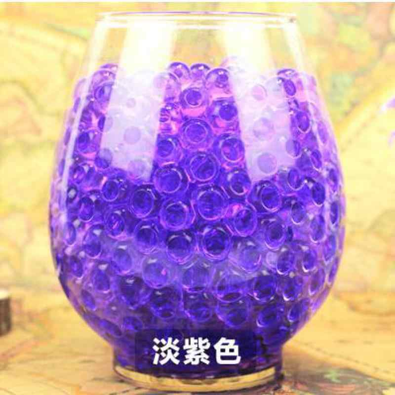 200 шт Красочные Кристальные жемчужные бусины для воды кристалл почвы абсорбирующее украшение бисером детские игрушки, домашний декор гидрогелевые бусины