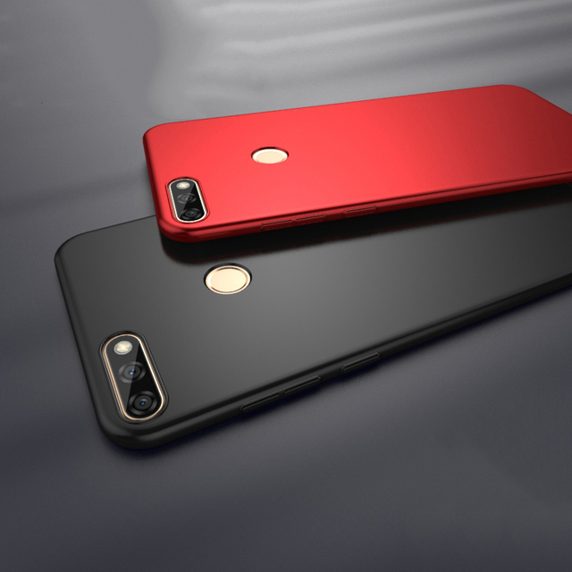 buy popular 06967 121b9 US $3.14 30% OFF|MAKAVO for Huawei Y9 2018 Case 360 Protection Slim Matte  PC Hard Back Cover for Huawei Enjoy 8 Plus Phone Cases Housing-in Fitted ...