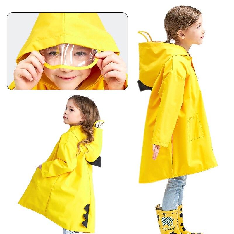Cute Dinosaur Baby Rain Coat Outdoor Waterproof Raincoat Children Windproof Gift