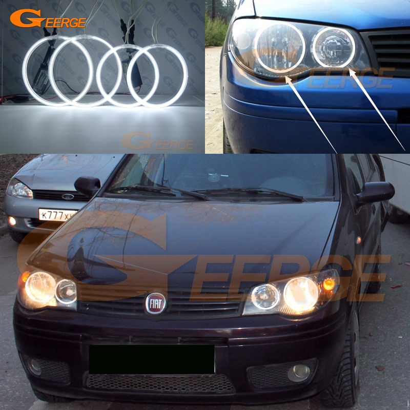 все цены на For Fiat Albea 2005 2006 2007 2008 2009 2010 2011 2012 Excellent Ultra bright illumination CCFL angel eyes kit Halo Ring онлайн