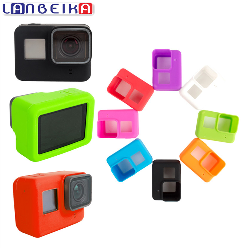 Galleria fotografica LANBEIKA For Gopro Silicone Rubber Case Protective Shell Soft Case For Gopro Accessories kits Go Pro Hero 6 5 Action Camera