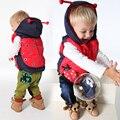 Crianças Outerwear casacos de inverno crianças roupas dos desenhos animados Animal com capuz quente meninos e meninas de algodão colete para a idade 2 - 5 anos de idade