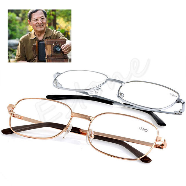 Metal Anti-fatigue Reading Glasses +1.00 1.50 2.00 2.50 3.00 3.50 4.00 Diopter