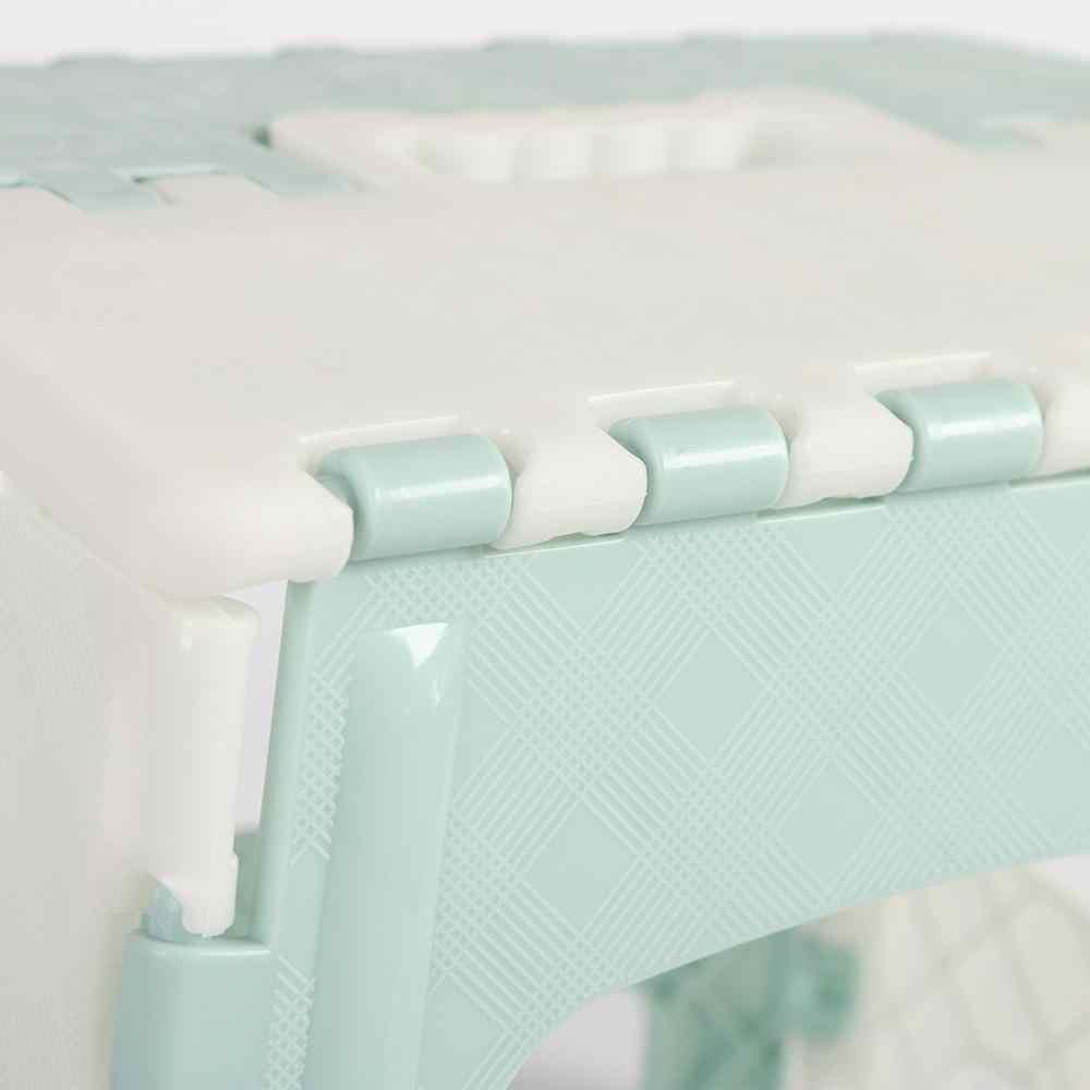 1 шт. многоцелевой складной прочный несущий PP материал бамбуковый узор мозаичный узор домашний поезд складной стул #4M30