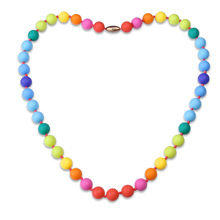Simple Women Necklace Silicone Colorful Beads Chain Necklaces Jewelry Accessories For Ladies Girls Gifts CX17