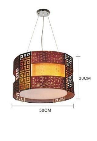 EMS FREE SHIPPING 50CM pendant lamp dining room pendant light circle faux paper vintage lamps restaurant lighting 807