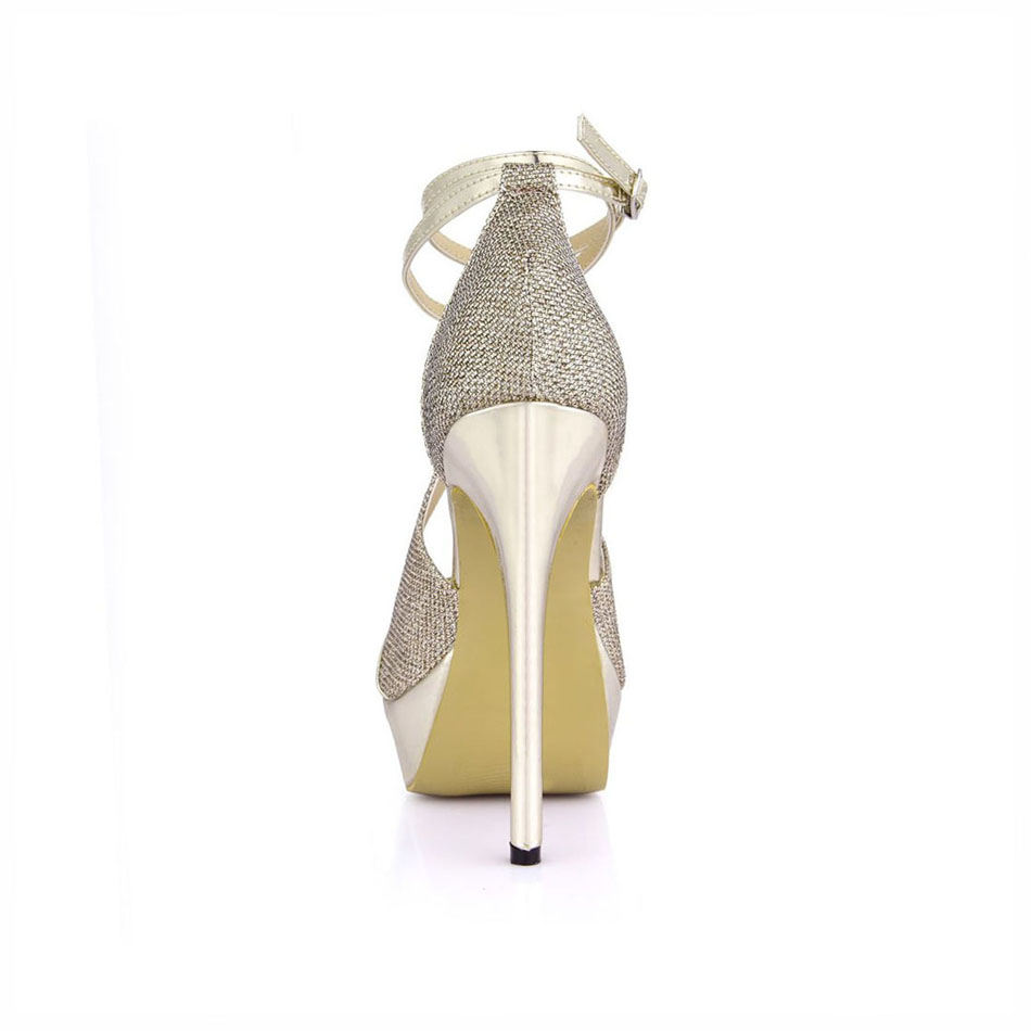 6bfca32c1 Aliexpress.com   Buy CHMILE CHAU Gold Patent PU Sexy Party Women s Shoes  Peep Toe Stiletto Heel Ankle Strap Platform Sandals Zapatos Mujer 3463SL Q1  from ...