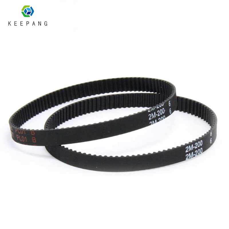 Kee Pang GT2 Closed Loop Timing Belt Rubber 2GT 6mm 3D Printers Parts 200 280 400  852 mm Synchronous Belts Part belt