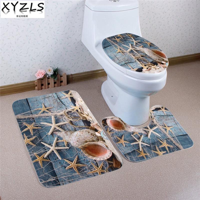 Transer Coral Velvet Soft Non Slip Bathroom Shower Mat Toilet Floor ...