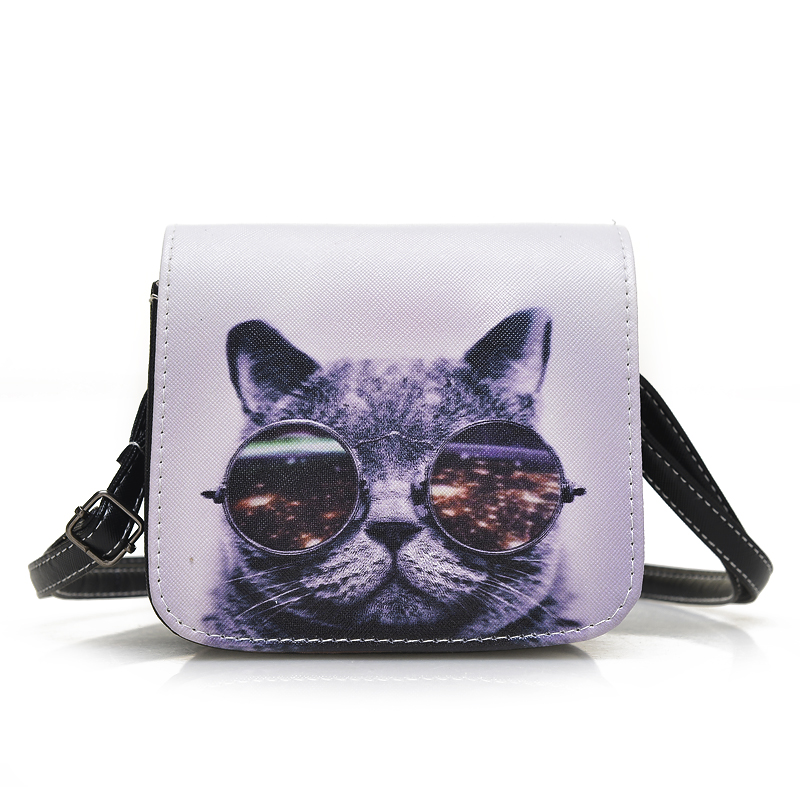 Hot sale Cat Character Women Shoulder Bag Small Cartoon Messenger Bag Yong Girls PU Leather Shopping bags Phone Bag Handbags hot fashion design personality little bear women backpacks cute character shapes cartoon girls schoolbag casual shoulder bag
