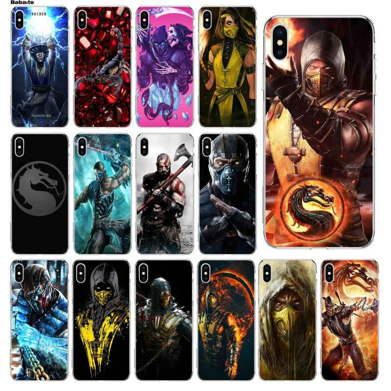 Babaite Scorpion In Mortal Kombat Tpu Transparent Phone Case Cover Shell For Iphone 5 5s Se 6 6s 7 7plus 8 8plus Xrx Xs Max Case
