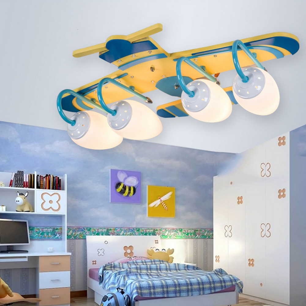 New cartoon ceiling lamp helicopter shape ceiling light for Ceiling light for kids room