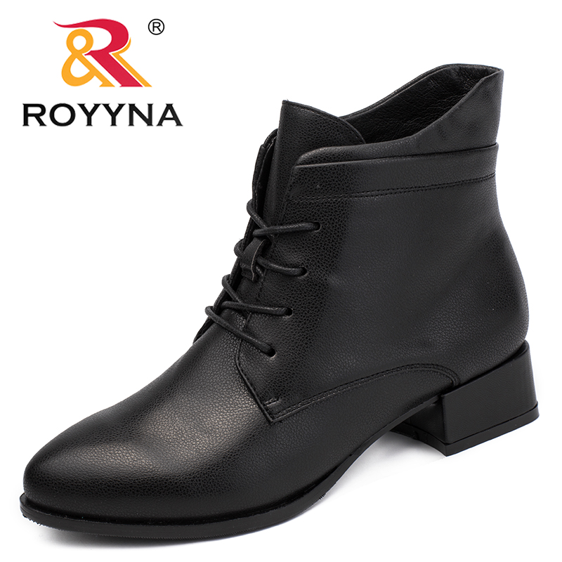 ROYYNA New Fashion Style Women Boots Lace Up Women Winter Shoes Round Toe Lady Ankle Boots
