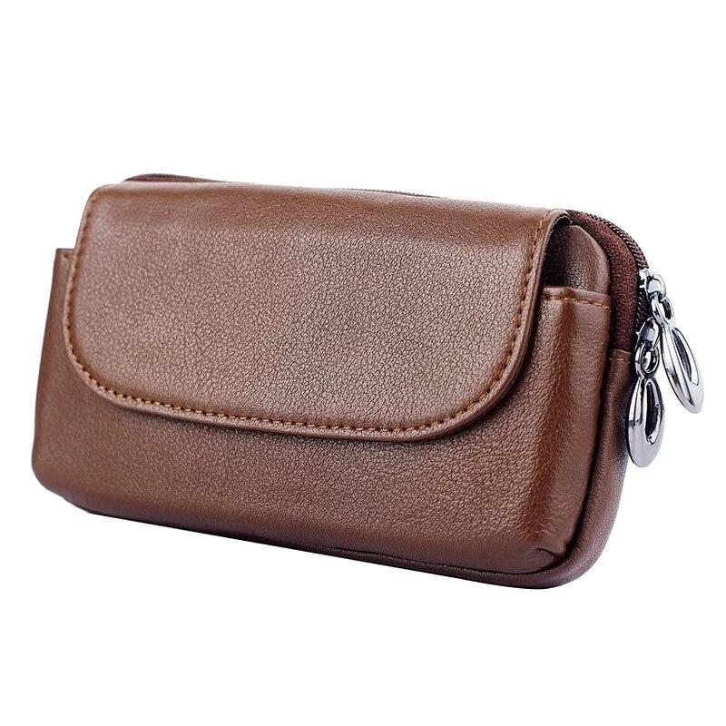 bilder für Echtes Leder Reißverschluss Geldbörse Tasche Fall Für Xiaomi mi3/mi4/mi5 MI6/Redmi hinweis 3/MI 3 4 5 6 Universelle Gürtelclip Handytasche abdeckung