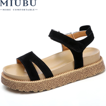 MIUBU Open Toe Lace up Heels Sexy Woman Sandals peep-toe sandals Thick with Women Shoes Roman High help sandalias mujer Platform недорго, оригинальная цена