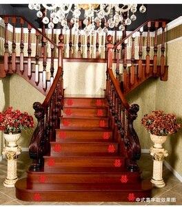 Image 2 - 6 個の結婚式のステッカー階段ダブル幸福中国壁のステッカーの結婚式用品カップルルーム家の装飾保育園の壁紙
