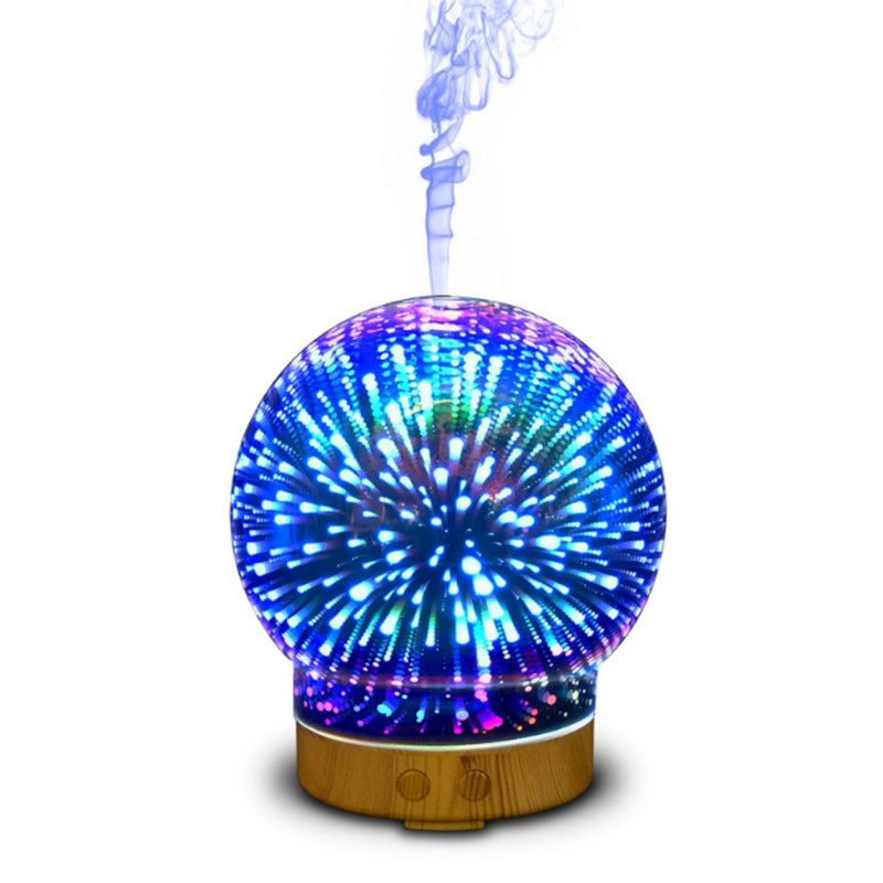 3D Essential Oil Aroma Diffuser Spherical Humidifier 7 Color LED Light Ultra-quiet Portable Ultrasonic Humidifier Aromatherapy недорого