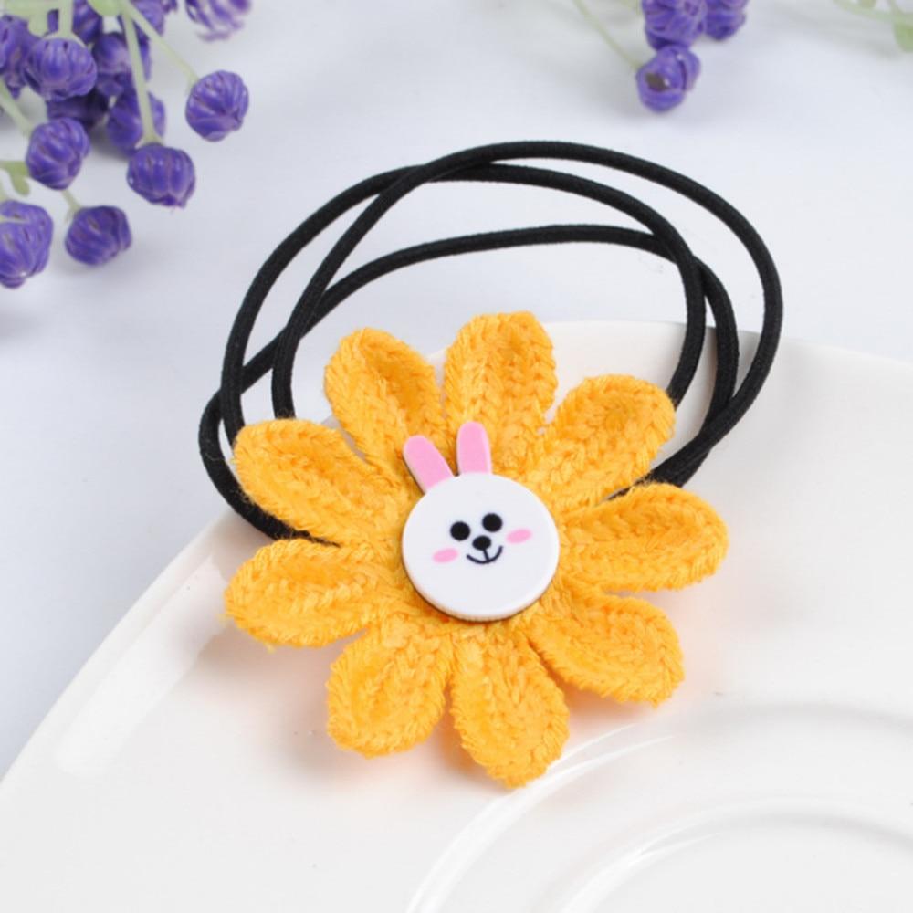 Cute Sunflower Hair Rope Elastic Hair Bands Scrunchies Girls Baby Hair Ties Rubber Band Hair Braiders 1