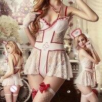 Sexy Nurse Costume Dresses Cosplay Lingerie Sex Uniforms Babydoll Nightwear chastity clothes fantazi giyim seksi lenceria