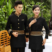 Hotel Clothes Uniform Long sleeved Jackets Thicken Suit Hot Restaurant Hotel Waiter Top Overalls