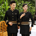 Hotel uniform  Long-sleeved thickening suit for Hot pot restaurant hotel waiter overalls
