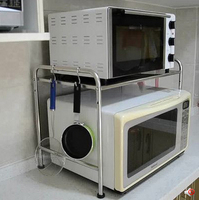 Stainless steel kitchen shelf microwave oven microwave oven