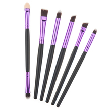 6pcs Pro Makeup Brushes Makeup Cosmetic Brushes Set Cosmetics Eyeliner Eyeshadow Eye Shadow Foundation Blending Brushes