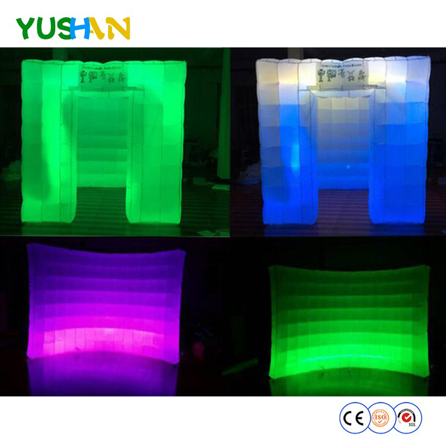 LED Strip Inflatable Photo Booth and Inflatable Wall Combination Rental digital photo booth Walls backdrops Baby Shower backdrop