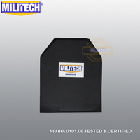 MILITECH 11'' x 14'' Shooters Cut Aramid Soft Bulletproof Ballistic Plate + Level2 Stab Resistant Armor NIJ Level 3A NIJ 0115.00|level|nij|panel -