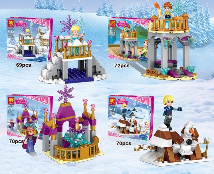 Compatible with Lego Friends LELE 37003 281pcs building blocks Cinderella Arendelle Castle Anna Elsa Figure toys for children lego friends со сменным элементом