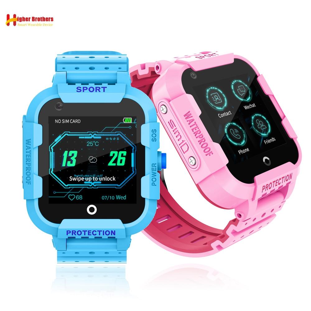 IPX7 étanche Smart 4G caméra à distance GPS WI-FI enfant étudiant Smartwatch SOS vidéo appel moniteur Tracker localisation téléphone montre
