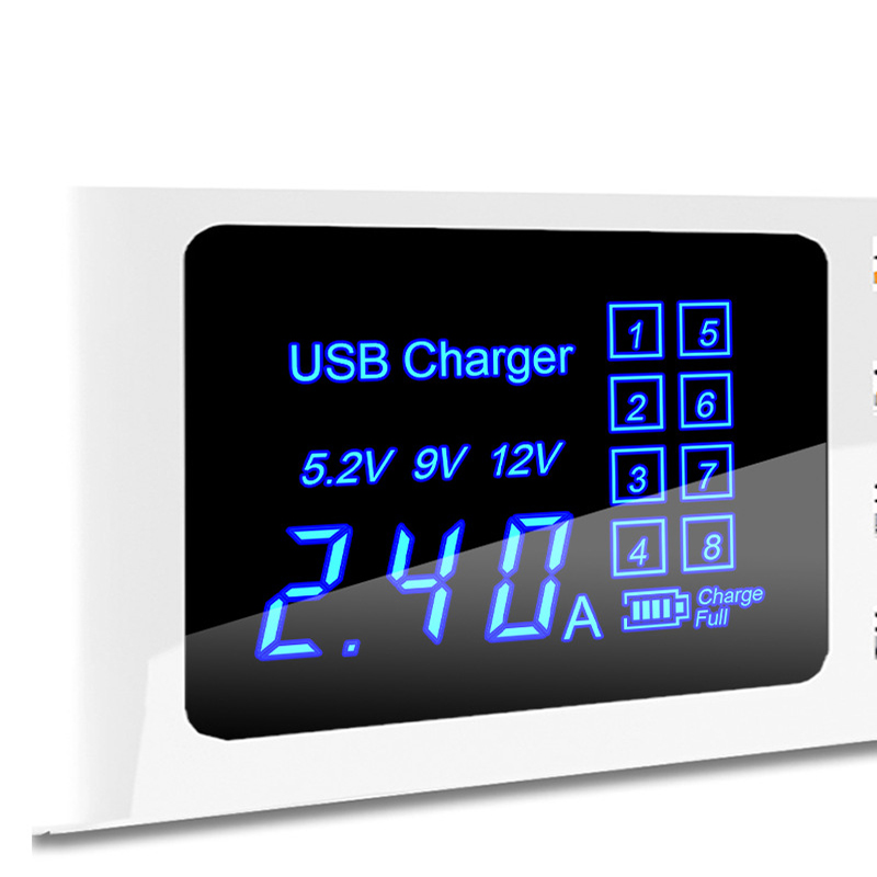 Thbelieve Multi USB Charger Mobile Phone Wireless Charging Station 8 USB HUB Wall Charge EU Plug Desktop Charge US UK Adapter (9)