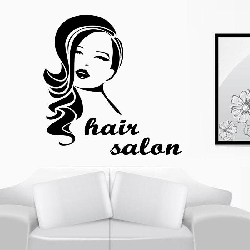 Hair Salon wall stickers posters window sign salon hairdresser decal hair beauty