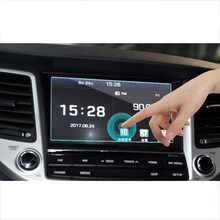 lsrtw2017 car GPS navigation screen anti-scratch protective toughened film for hyundai santa fe Maxcruz 2015 2016 2017 2018