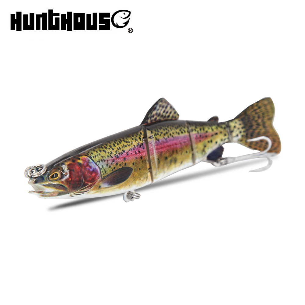 Hunt House 2018 swimmer fish wobbler for pike fishing jointed multi-section bass lure artificial sea leurre 165mm 65g best price