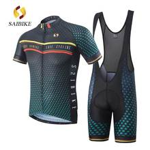 saiBike brand Cycling Clothing/Cycling Jersey Sets With Bib shorts New Style Bicycle Summer Short Sleeve Outdoor Sportswear