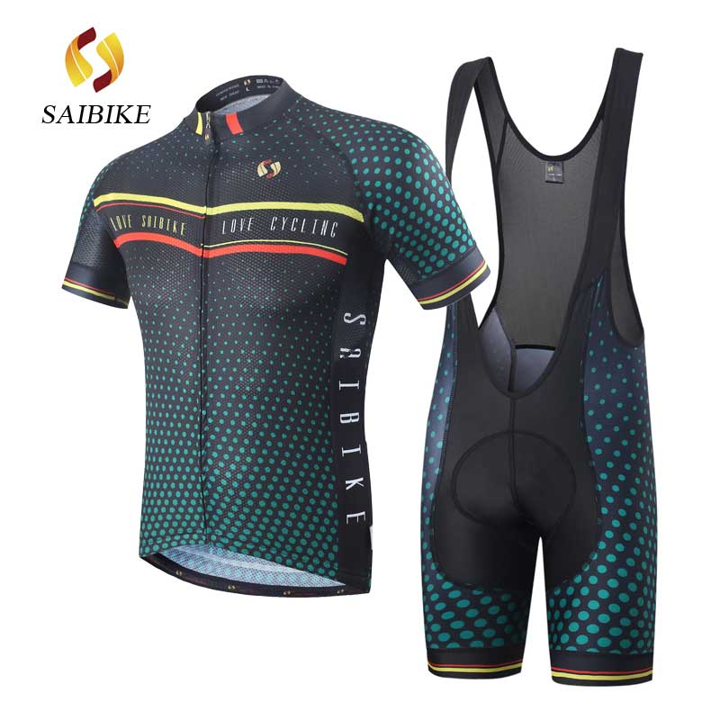 saiBike brand Clothing/Cycling Jersey Sets With Bib shorts New Style Bicycle Summer Short Sleeve Outdoor Sportswear Cycling