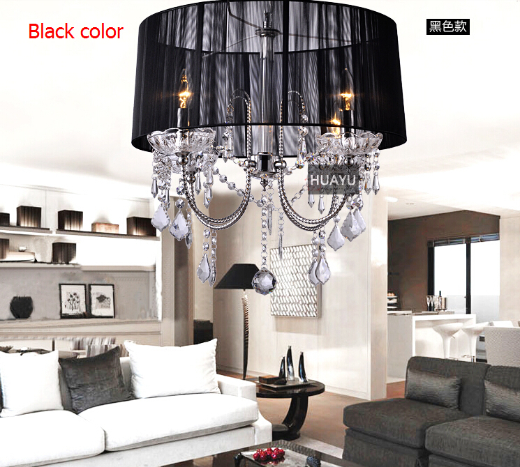 Modern K9 Crystal Chandelier Black Chandelier Crystal Candles lustres de sala Luminaire Cognac lustre de crista 110-240V lampada