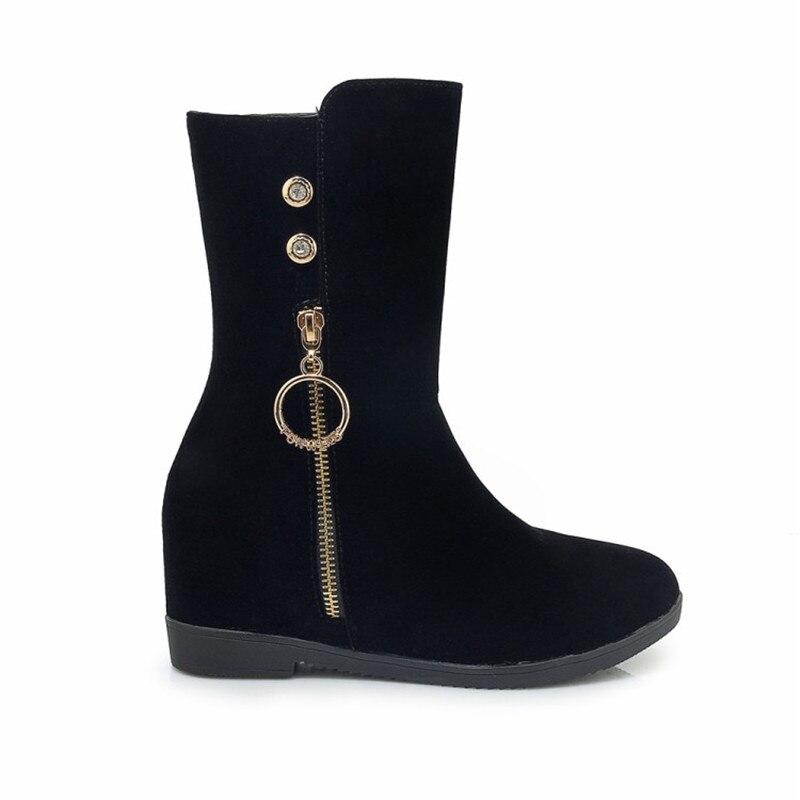 Plataforma Mujeres Talones Otoño Mujer Para Zapatos Nuevo Casual Grande Black Botas Negro Femeninos 43 Las Altos Tacones Tamaño X7pxwzqwd