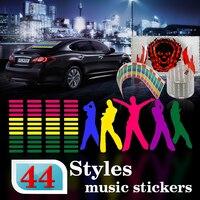 114*30 cm Led EL hoja de Luz rojo verde azul amarillo rosa púrpura colorida sticke Car Music Ritmo de la Música ecualizador 3D Flash