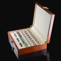 Luxury Cufflinks Gift Box High Quality Painted Wooden Box Authentic Size 240 180 55mm Capacity Jewelry